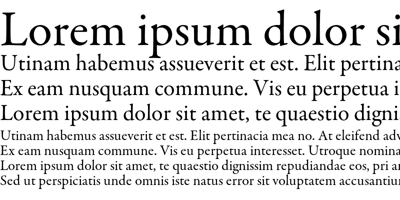 Sample of Garamond Premier Pro Regular