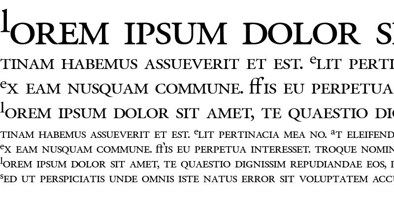 Sample of Garamond Pro Roman SSi