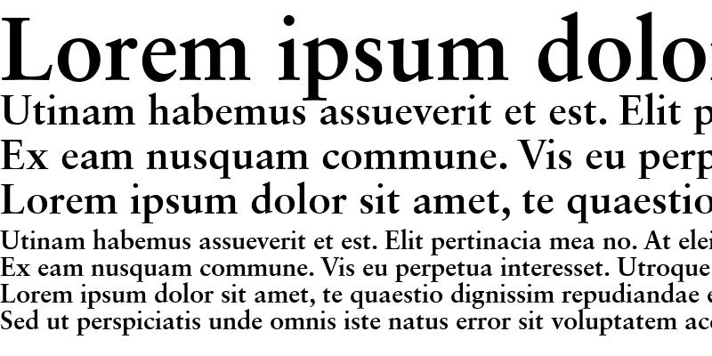 Sample of Garamond Retrospective OS SSi
