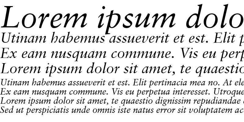 Sample of Garamond Retrospective SSi Italic