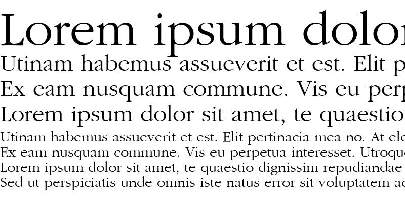 Sample of Garamond-Roman