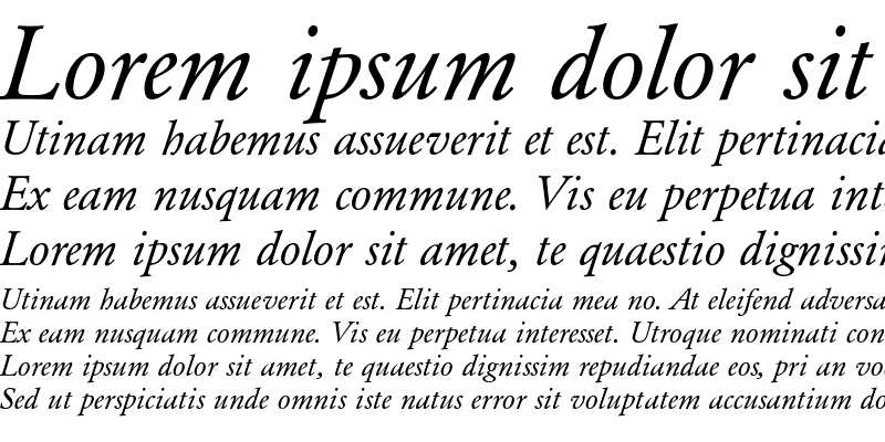 Sample of Garamond-RomanItalic