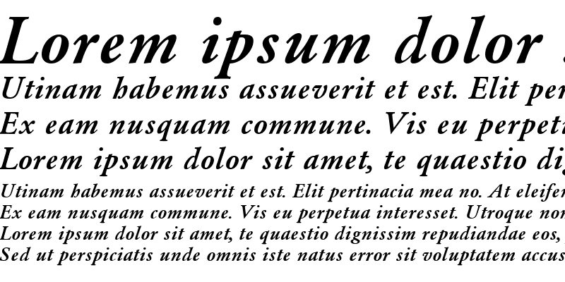 Sample of Garamond_A.Z_PS Bold-Italic