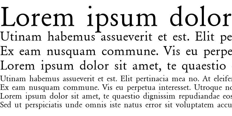 Sample of Garamond_A.Z_PS Normal