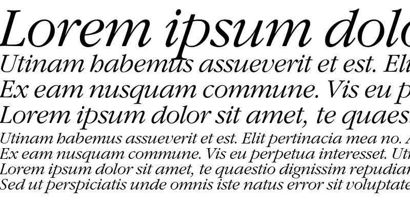 Sample of GaramondC Italic