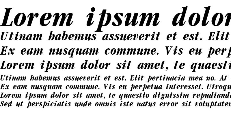 Sample of Garamondcond Bold Italic