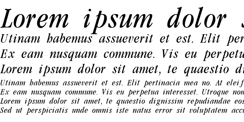 Sample of Garamondcond Light Italic