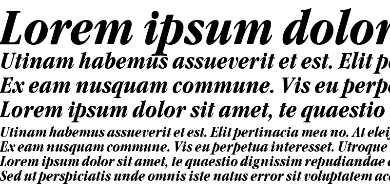 Sample of GaramondNovaCond Bold Italic
