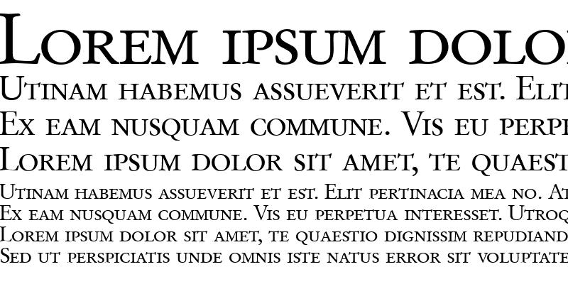 Sample of GaramondOriginalSmc Regular