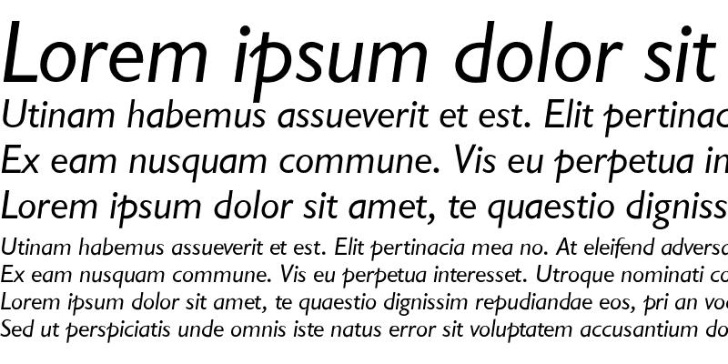 Sample of GarrisonSans-RegItalic