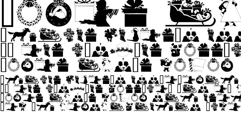 Sample of GE Christmas Silhouettes Regular