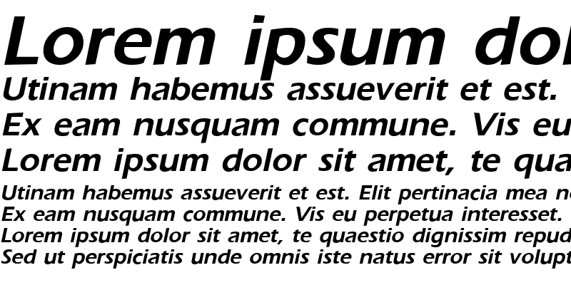 Sample of GE Ergonomic Bold Italic