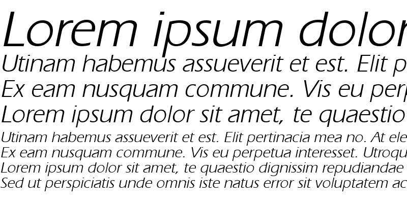 Sample of GE Ergonomic Italic