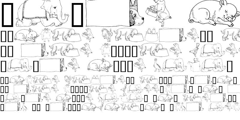 Sample of GE Whimsical Animals IV