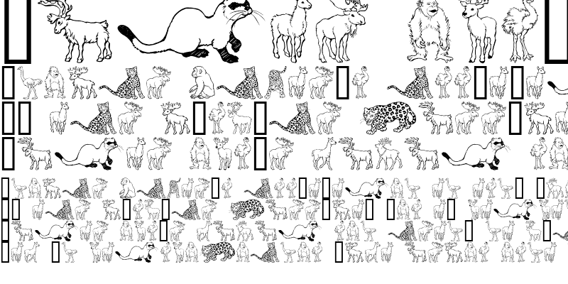 Sample of GE Wild Kingdom L to O