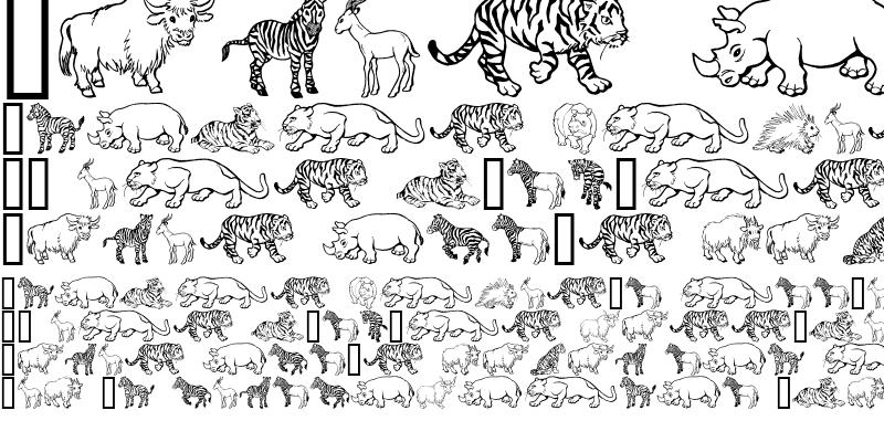 Sample of GE Wild Kingdom P to Z
