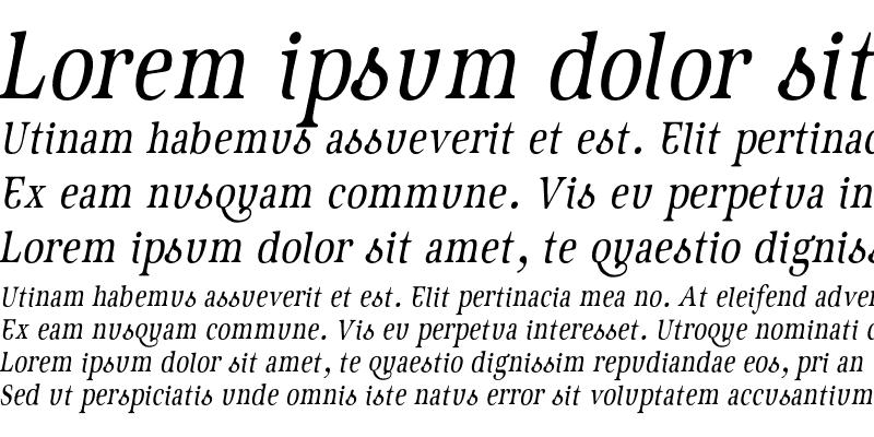 Sample of GeistItalic