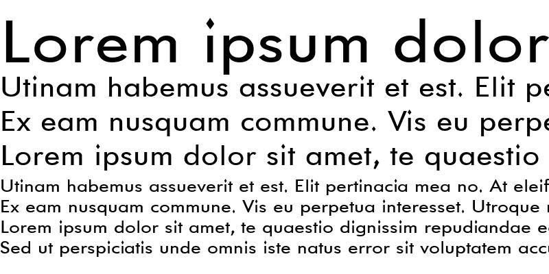 Sample of GemFont One