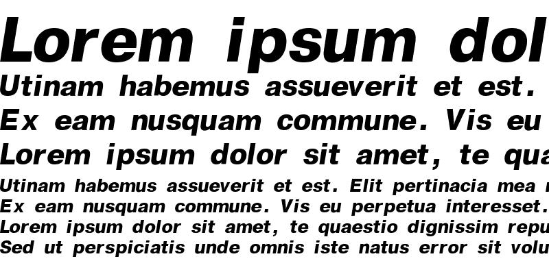 Sample of Geneva Bold-Italic