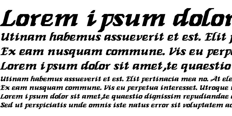 Sample of Genoa-Italic