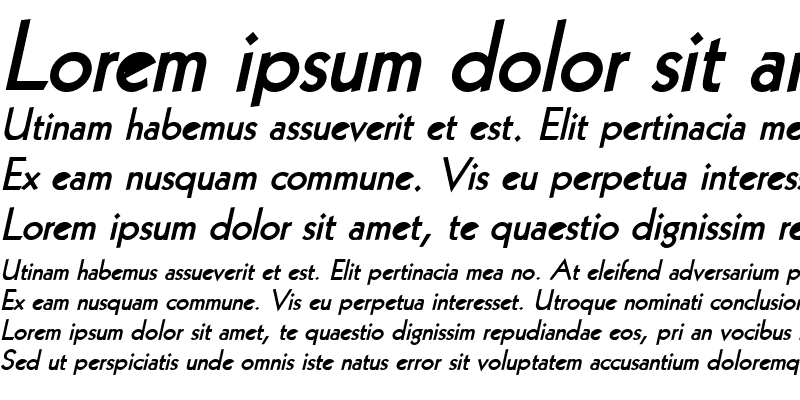 Sample of Geo 112 Bold Italic