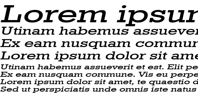 Sample of Geo 986 Extended Italic