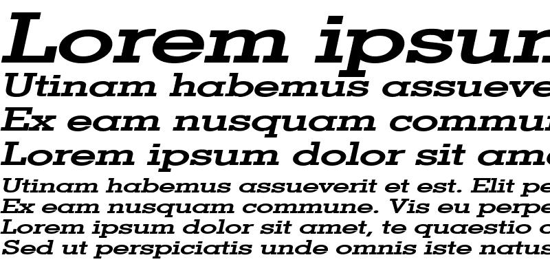 Sample of Geo Extended Bold Italic