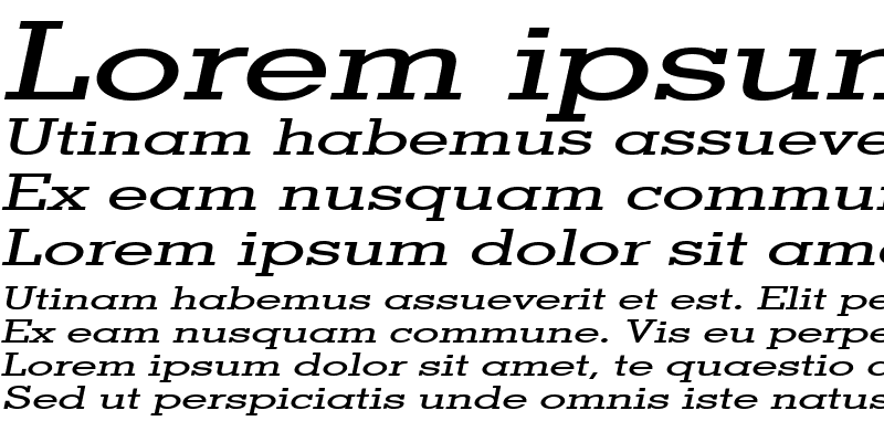 Sample of Geo Extended Italic