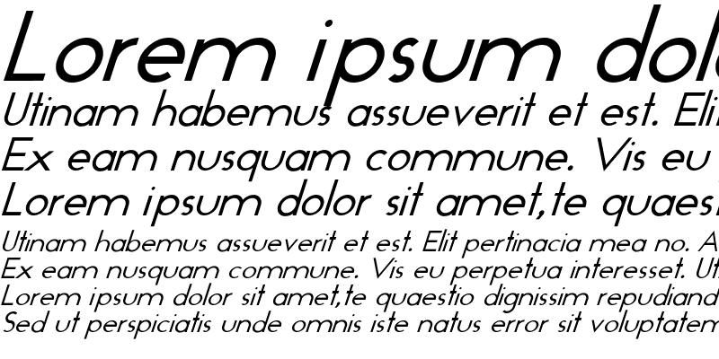 Sample of Geo-Italic