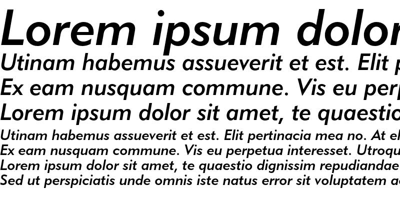 Sample of Geometric 415 Medium Italic