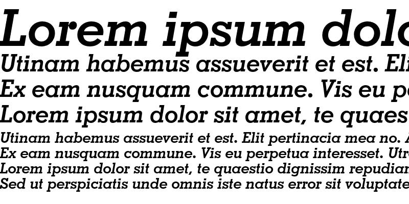 Sample of Geometric Slabserif 703 Bold Italic