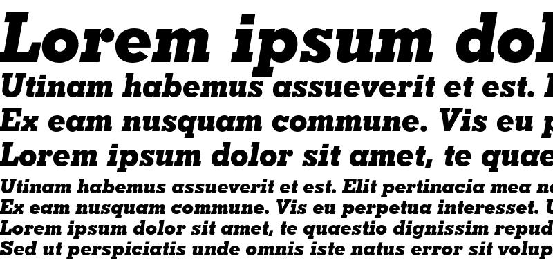 Sample of Geometric Slabserif 703 Extra Bold Italic