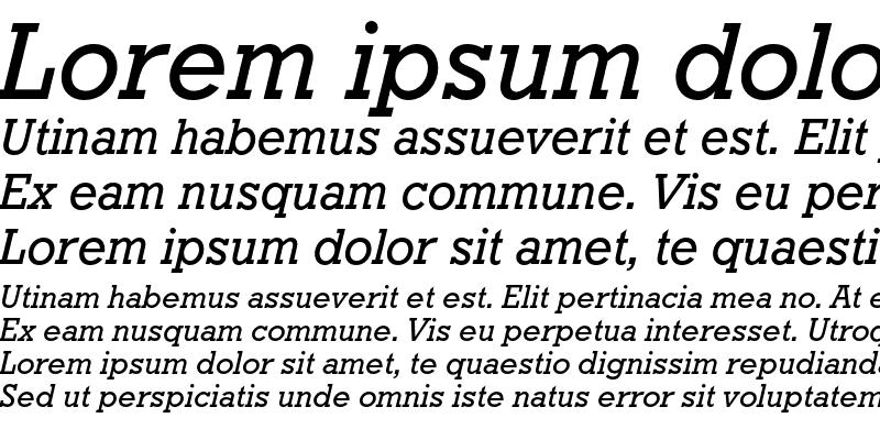 Sample of Geometric Slabserif 712 Medium Italic