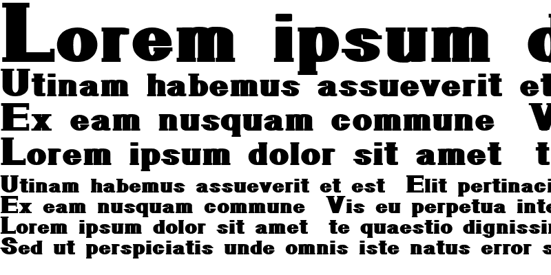 Sample of GeometricSerif