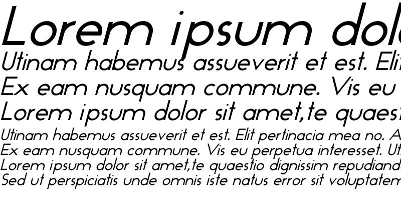 Sample of GeoPlain Italic