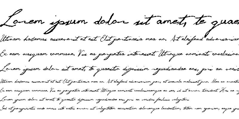 Sample of George Gibson Regular