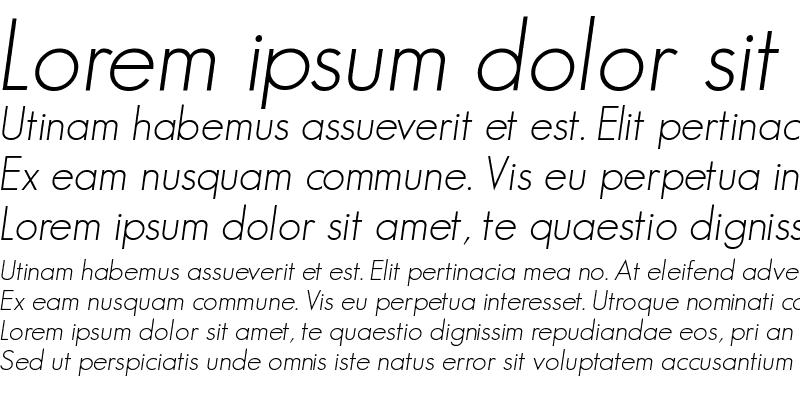 Sample of GeosansLight Medium Italic