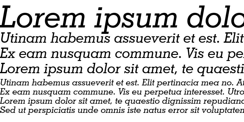 Sample of GeoSlab703 Md BT Medium Italic