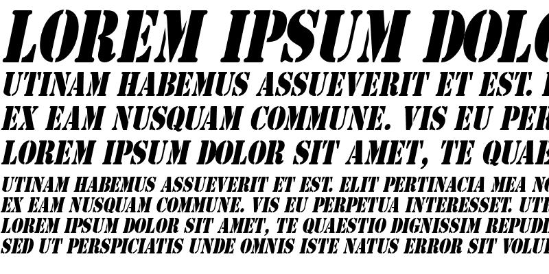 Sample of GI Stencil-Condensed