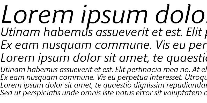 Sample of Giacomo Regular Italic
