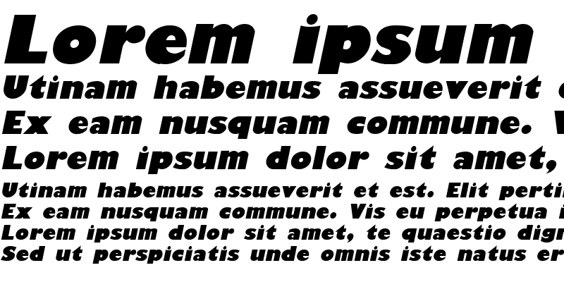 Sample of GiliganBlack Italic