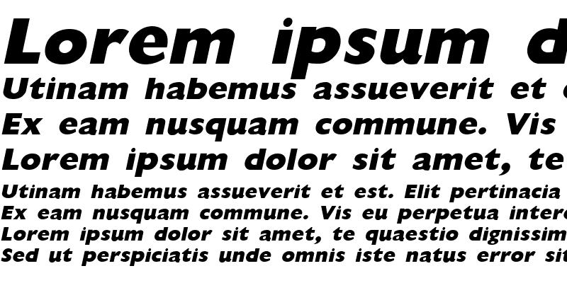 Sample of GiliganExtrabold Italic