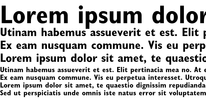 Sample of Gill Sans Bold Condensed