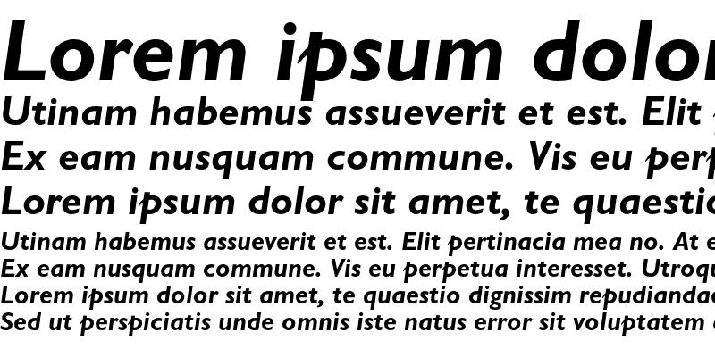 Sample of Gill Sans Bold Italic