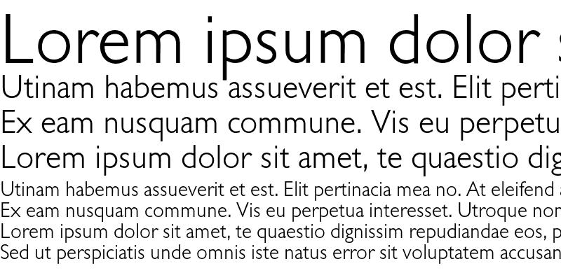Sample of Gill Sans BQ