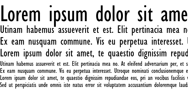 Sample of Gill Sans Condensed
