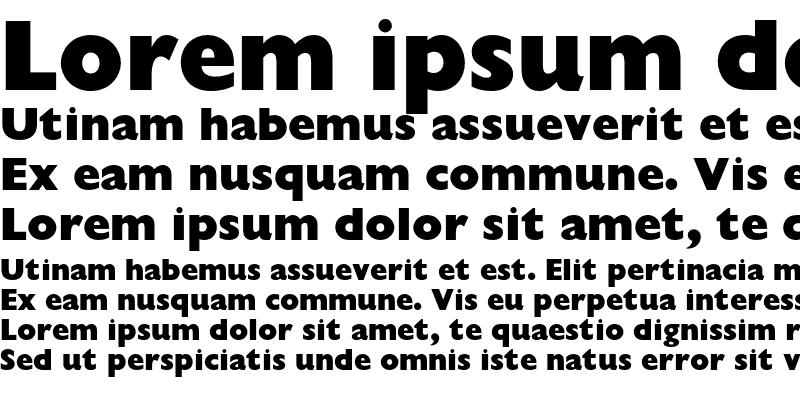 Sample of Gill Sans Extra Bold Display