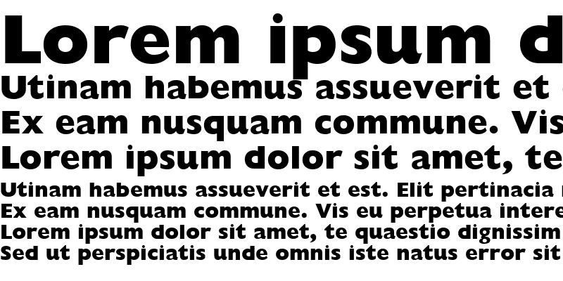 Sample of Gill Sans Extra Bold