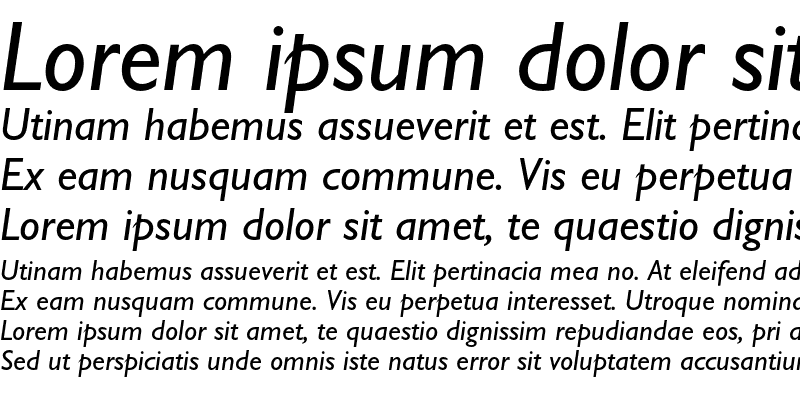 Sample of Gill Sans Italic