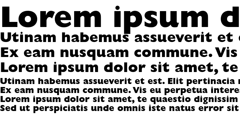 Sample of Gill Sans MT Extra Bold